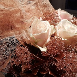 A wonderful gift from a wonderful  friend. Happy Christmas! #roses #joy #friendship #christmas  #frenchlace