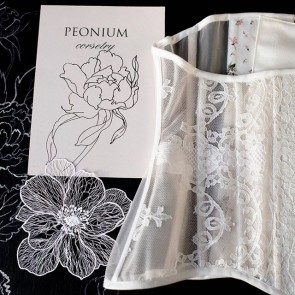 The art of the corset by @peonium_corsetry with our lace to perfect it✨ .  #dentelle #dentelledecalais #dentelledecaudry #dentelledecalaiscaudry #dentellefrancaise #frenchlace #lace #sophiehallette #madeinfrance #corset